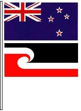 New Zealand and Māori flags