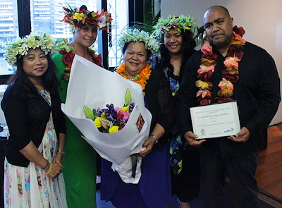Photo Caption: Award winners from CIDANZ & Rangi Michelle Potoru (second from left).
