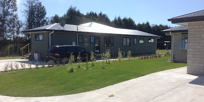 One of the new homes in 'paradise'. Photo credit: Hawkes Bay Today