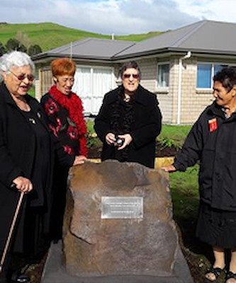Kuia mark the momentous occasion at Mangatawa papakāinga.