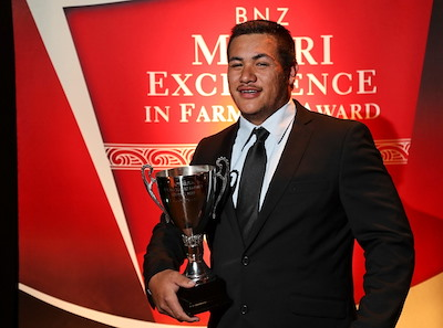 Jordan Biddle Wins Young Maori Farmer Award 2017