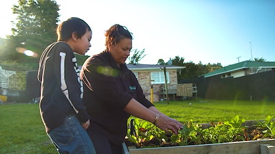My Background Garden, providing whānau of Rotorua not only with fresh and nutritional kai, but increasing knowledge of traditional gardening techniques. Photo by Wiremu Grace.