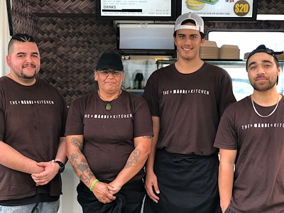 The Maori Kitchen Cadets (Tyler, Tina, Harrison and Trey) Photo by Te Puni Kōkiri, May 2019.