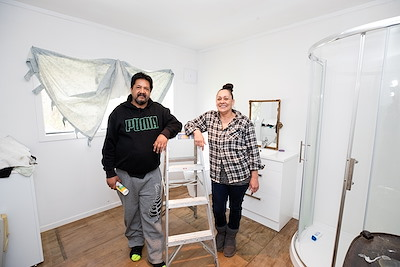 Whangaruru residents Paerau Ted Morehu and Miriama Matene one whānau who has received housing repairs through Ki A Ora Ngāti Wai Trust