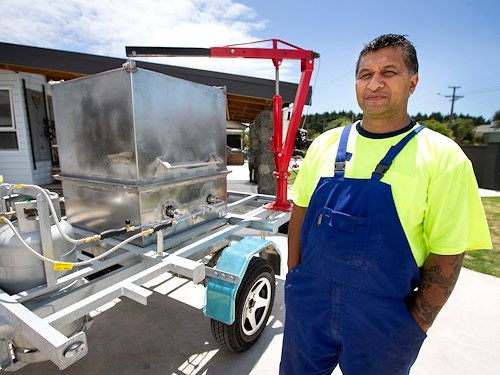 John Stevens (Hone Tipene) - Kohatu Cookers - Photo courtesy of Fairfax Media NZ - Taranaki Daily News.