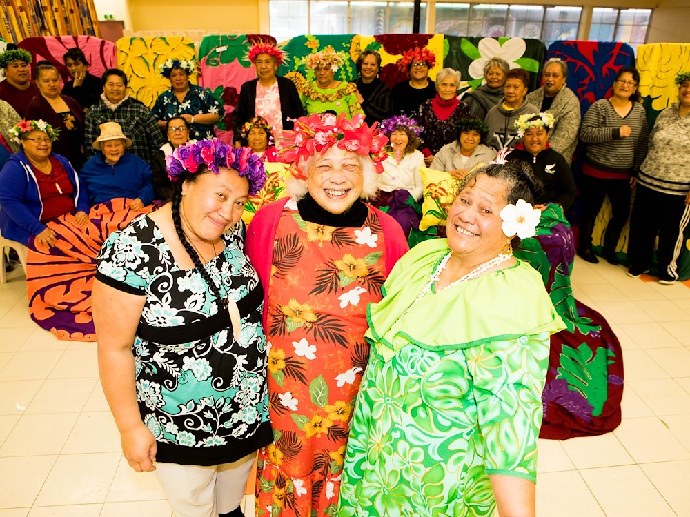 The Porirua mamas come together to stitch, learn and pass on their knowledge to younger generations in a lively urban community. Photo by Adrian Heke.