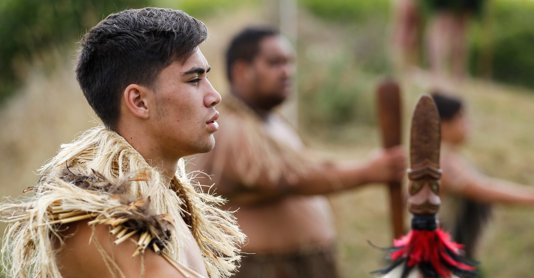 A young man reflects during the 150 year commemoration of the attack on Rangiaowhia in the Waikato War (1863–1864).
